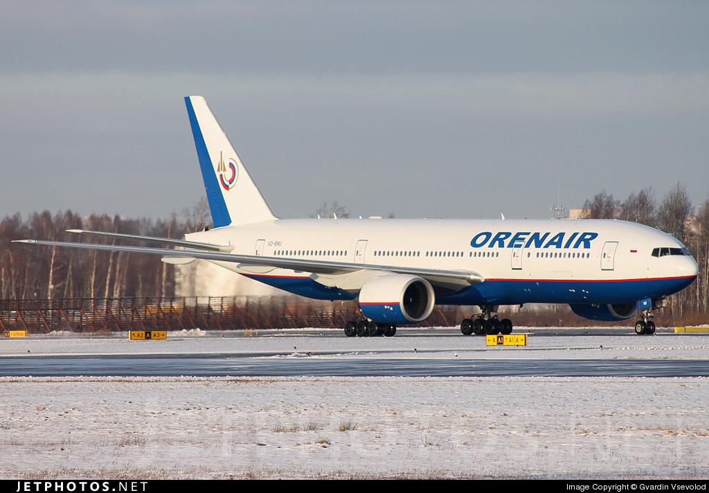VQ-BNU - Boeing 777-2Q8(ER) - Orenair