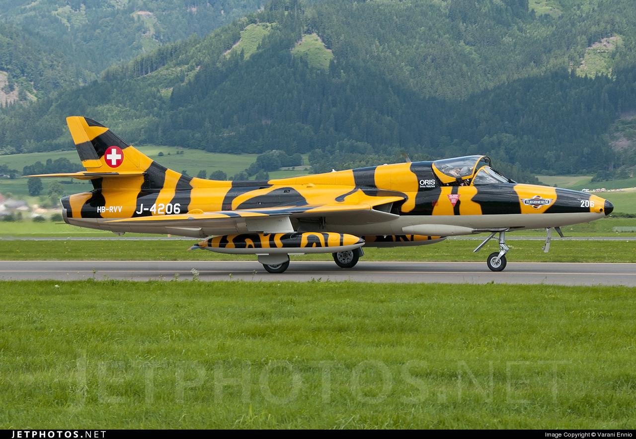 HB-RVV - Hawker Hunter T.68 - Hunter Flying Group