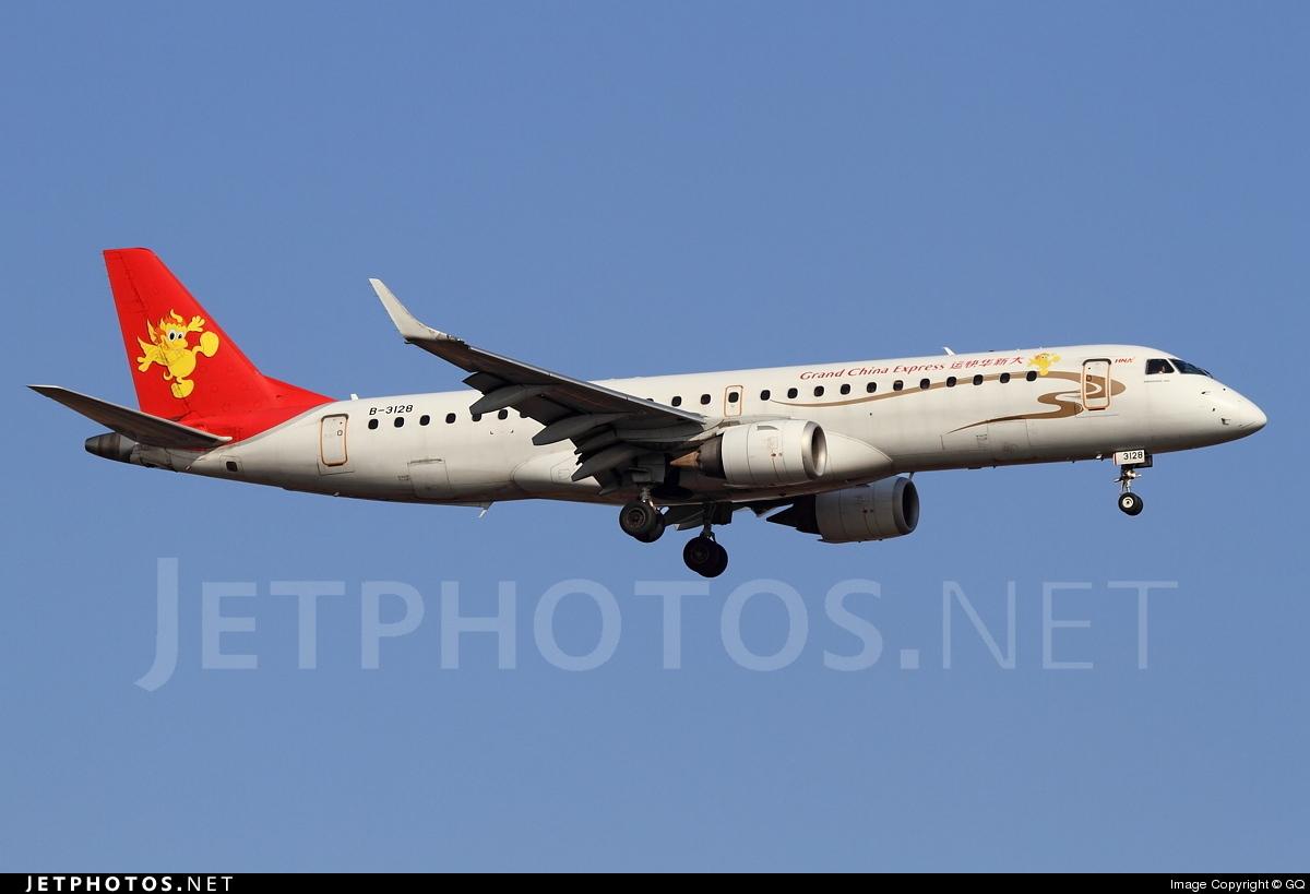 B-3128 - Embraer 190-100LR - Grand China Express