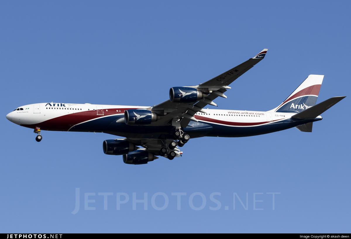 CS-TFW - Airbus A340-542 - Arik Air (Hifly)