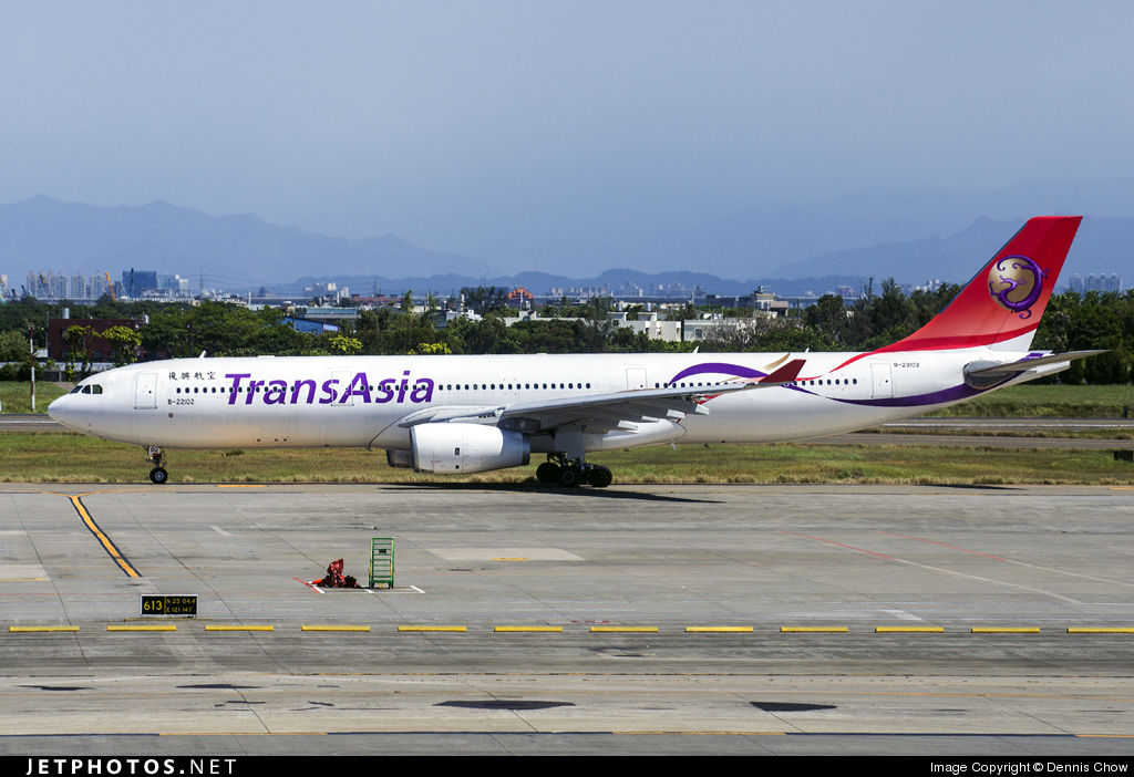 B-22102 - Airbus A330-343 - TransAsia Airways