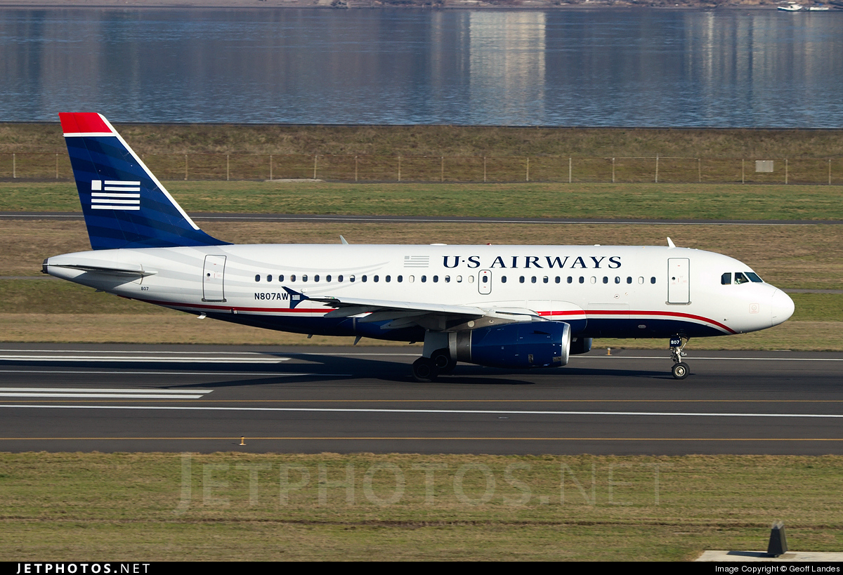 N807AW - Airbus A319-132 - US Airways