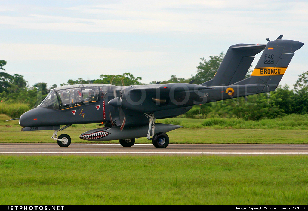 FAC2221 - North American OV-10A Bronco - Colombia - Air Force