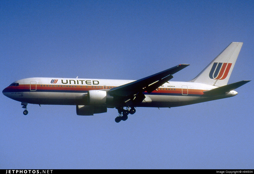 N606UA - Boeing 767-222 - United Airlines