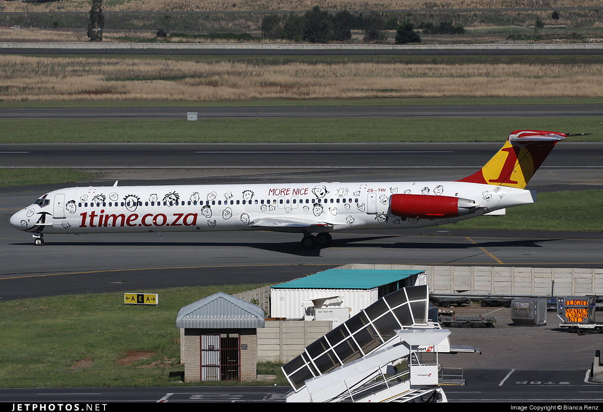 ZS-TRI - McDonnell Douglas MD-83 - 1Time Airline