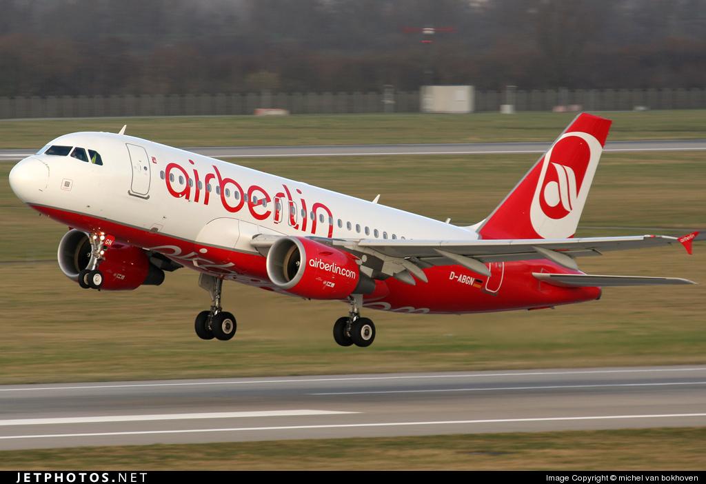 D-ABGN - Airbus A319-112 - Air Berlin
