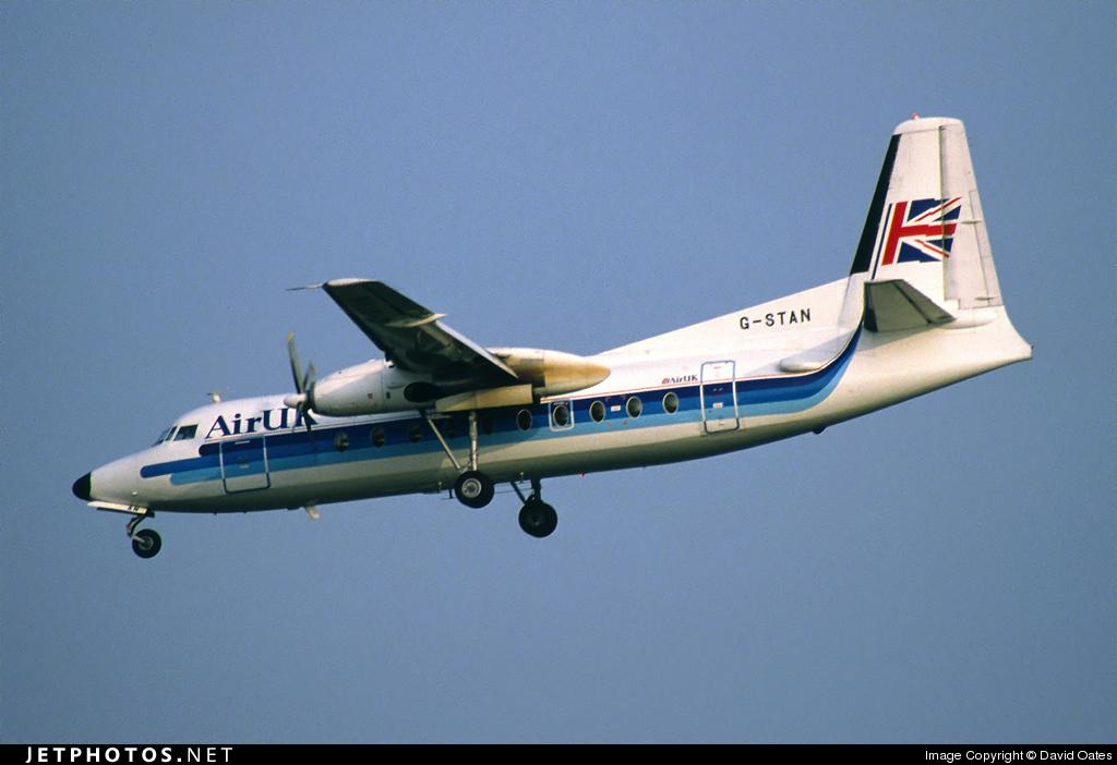 G-STAN - Fokker F27-200 Friendship - Air UK