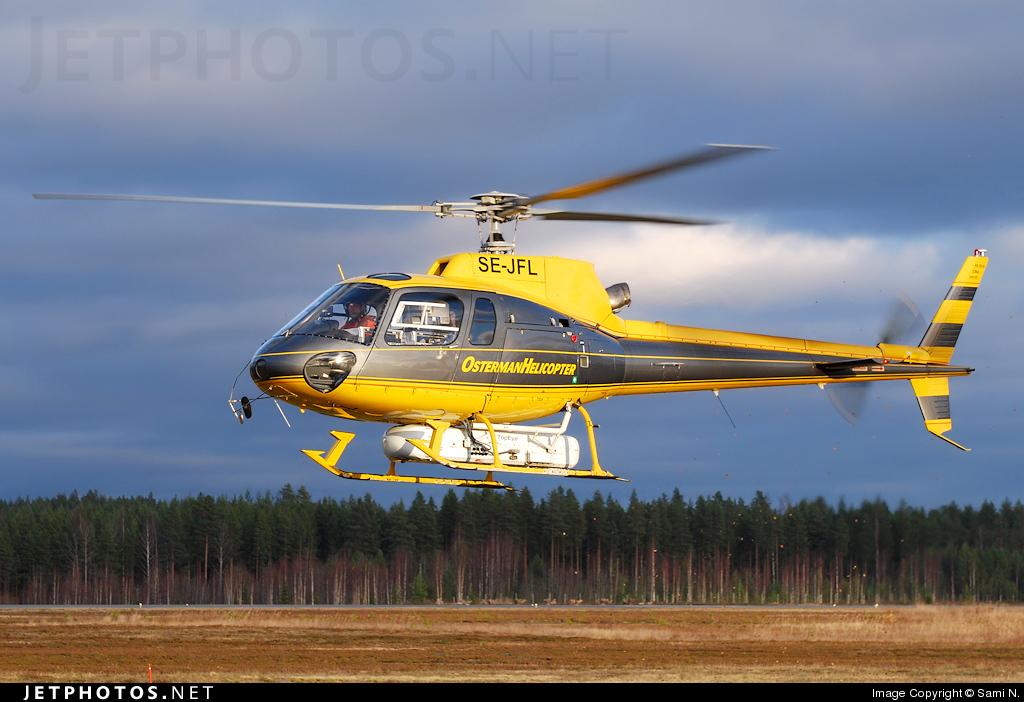SE-JFL - Aérospatiale AS 350B2 Ecureuil - Osterman Helicopter