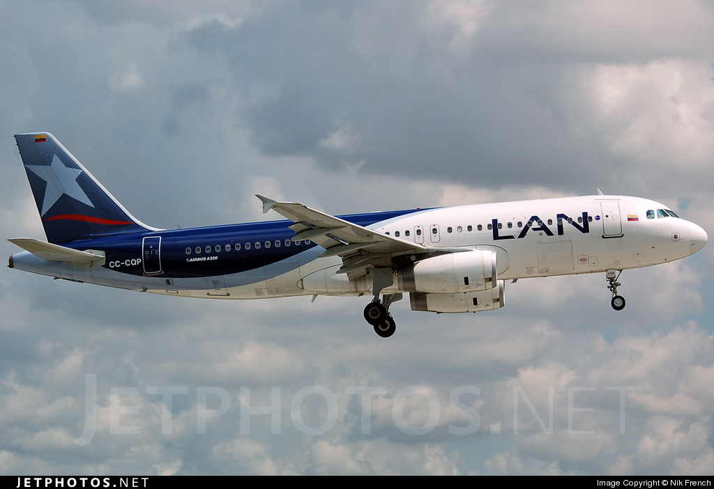 CC-CQP - Airbus A320-233 - LAN Colombia (Aires Colombia)