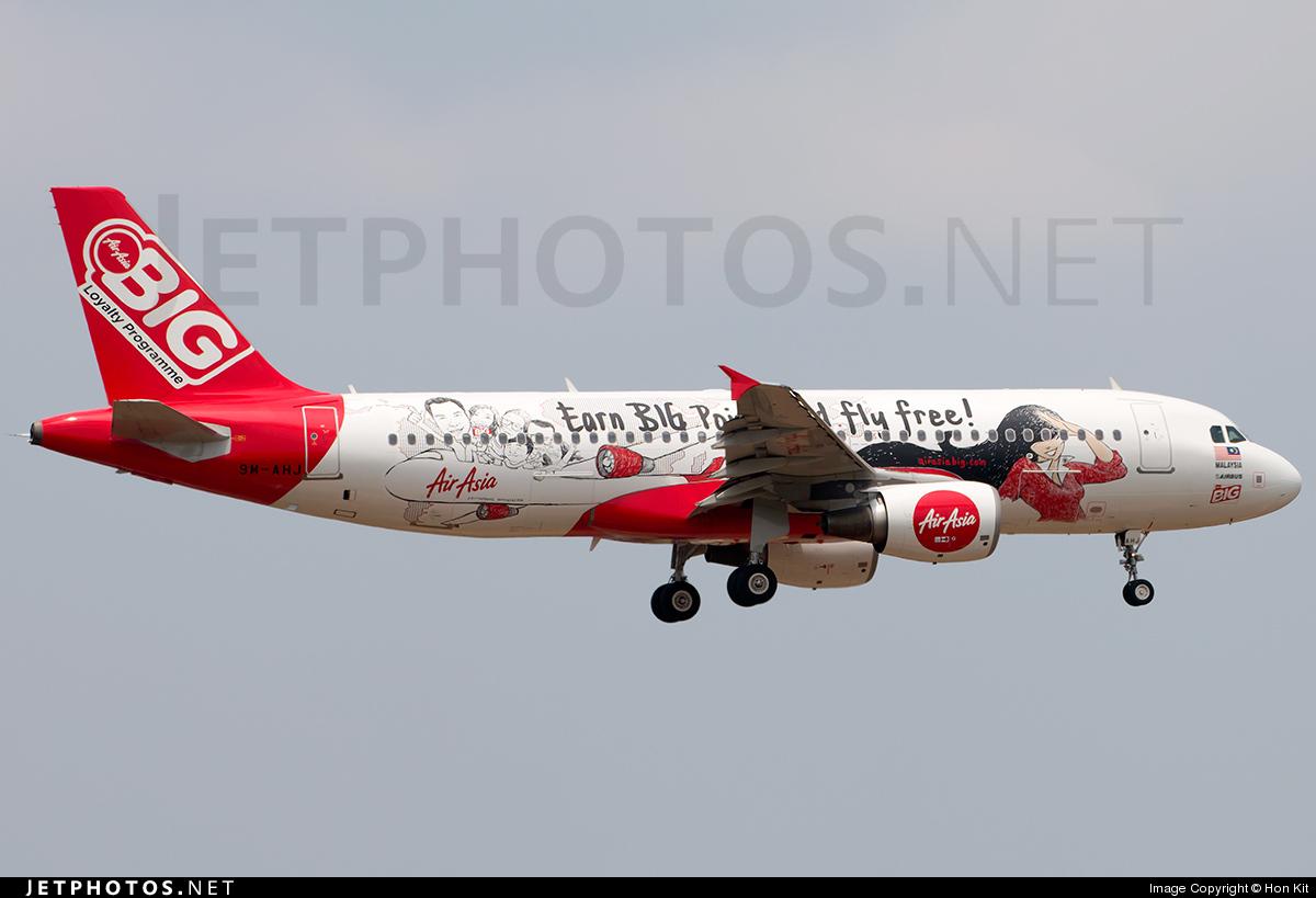 9M-AHJ - Airbus A320-216 - AirAsia
