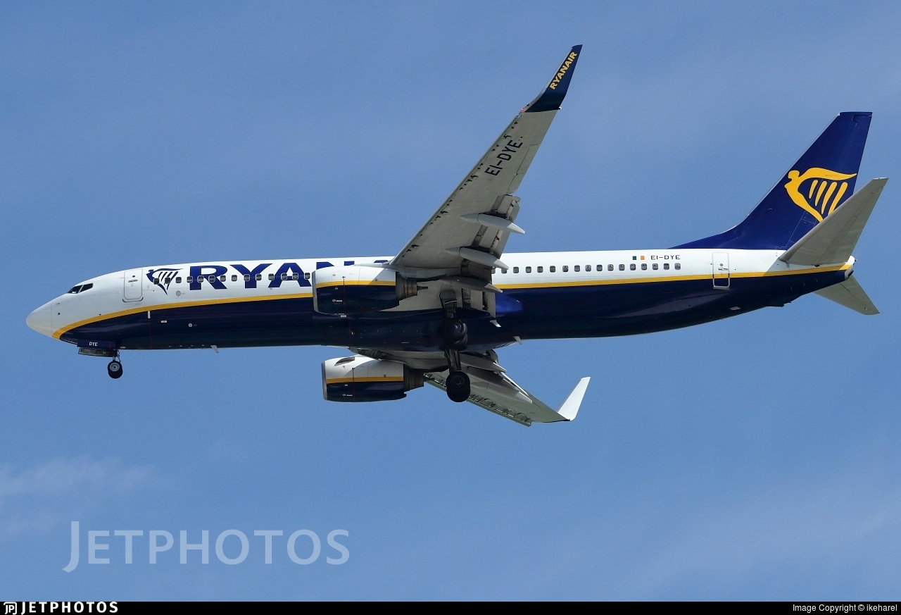 EI-DYE - Boeing 737-8AS - Ryanair