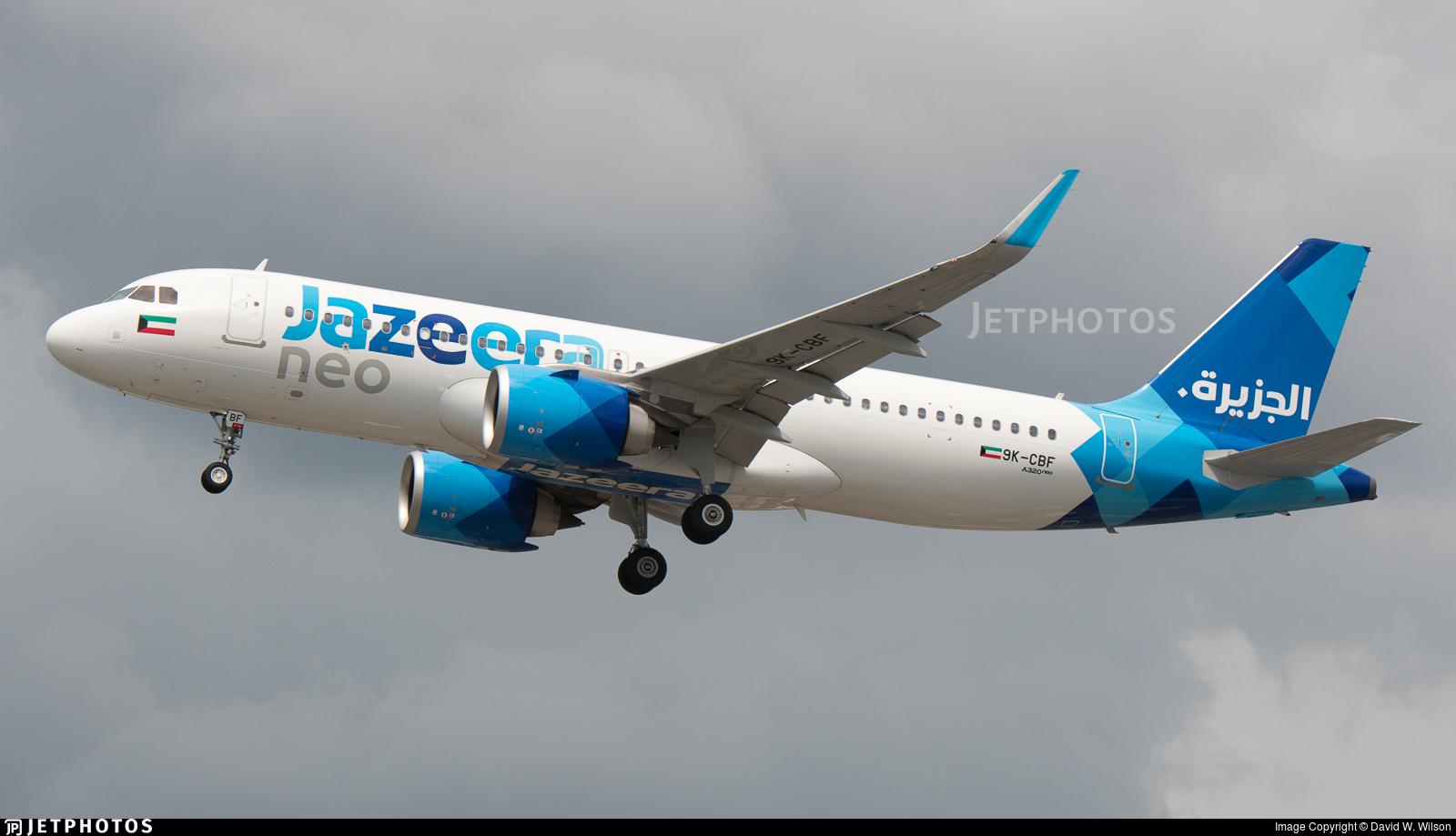 9K-CBF - Airbus A320-251N - Jazeera Airways