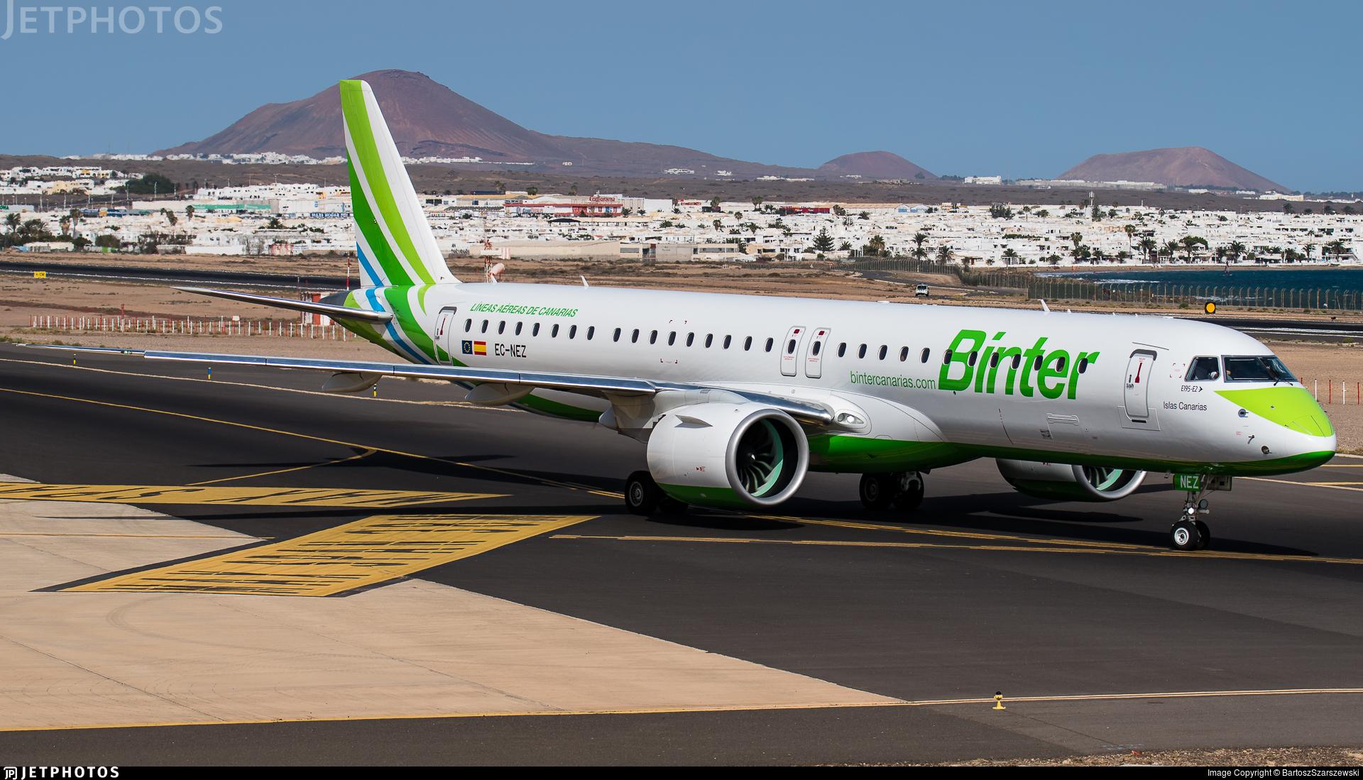 EC-NEZ - Embraer 190-400STD - Binter Canarias