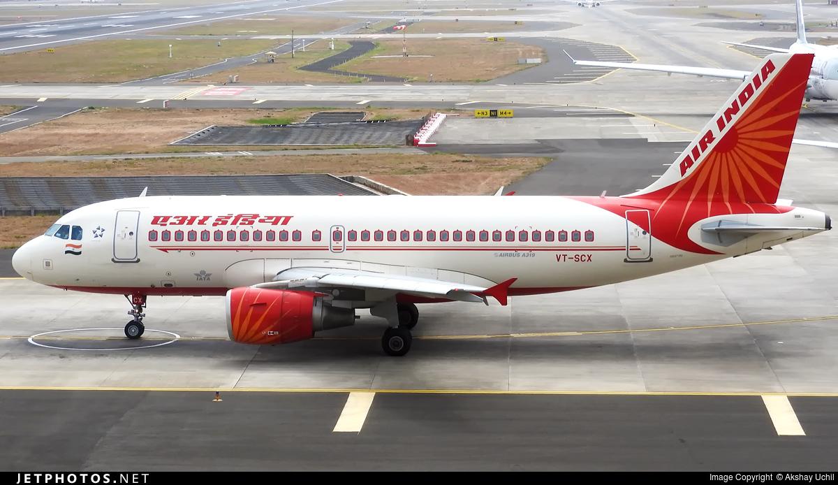 VT-SCX - Airbus A319-112 - Air India