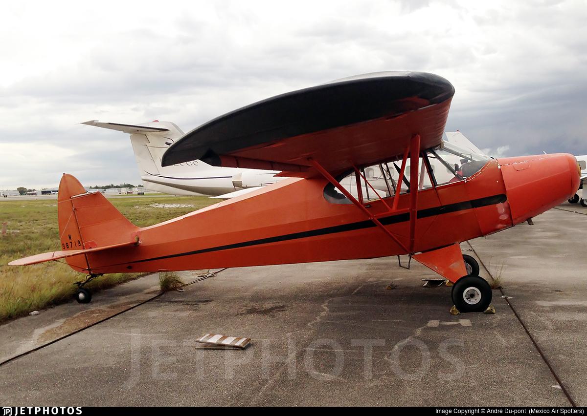 N38719 - Piper J-5A Cub Cruiser - Private