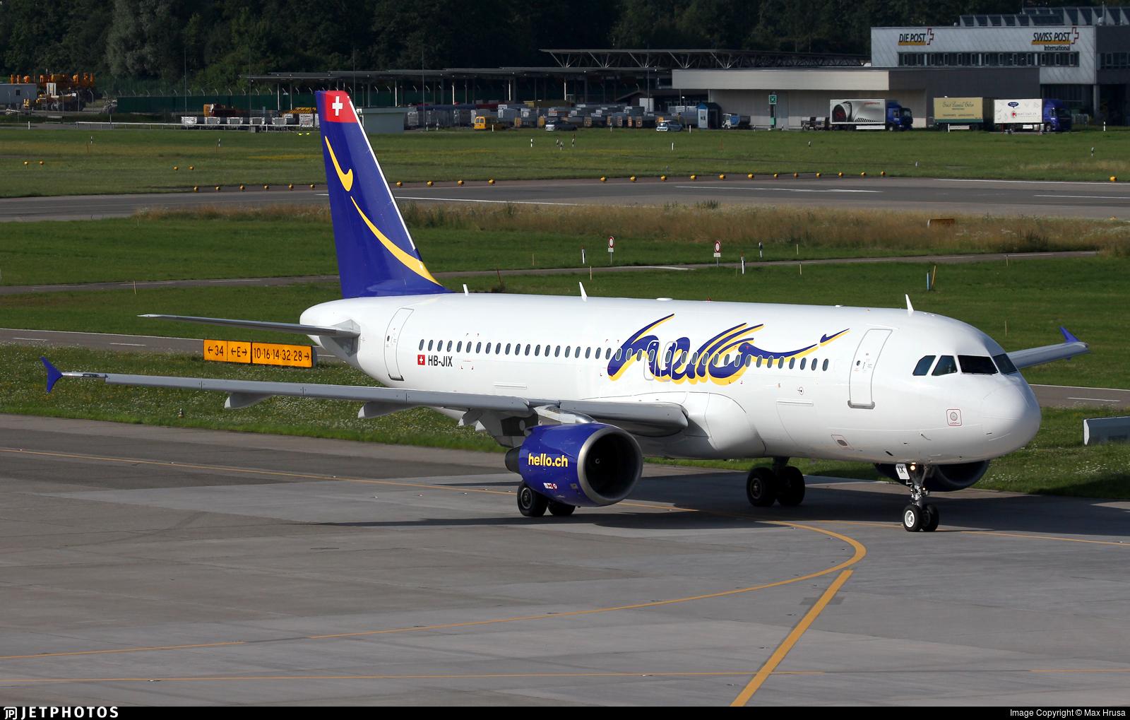 HB-JIX - Airbus A320-214 - Hello