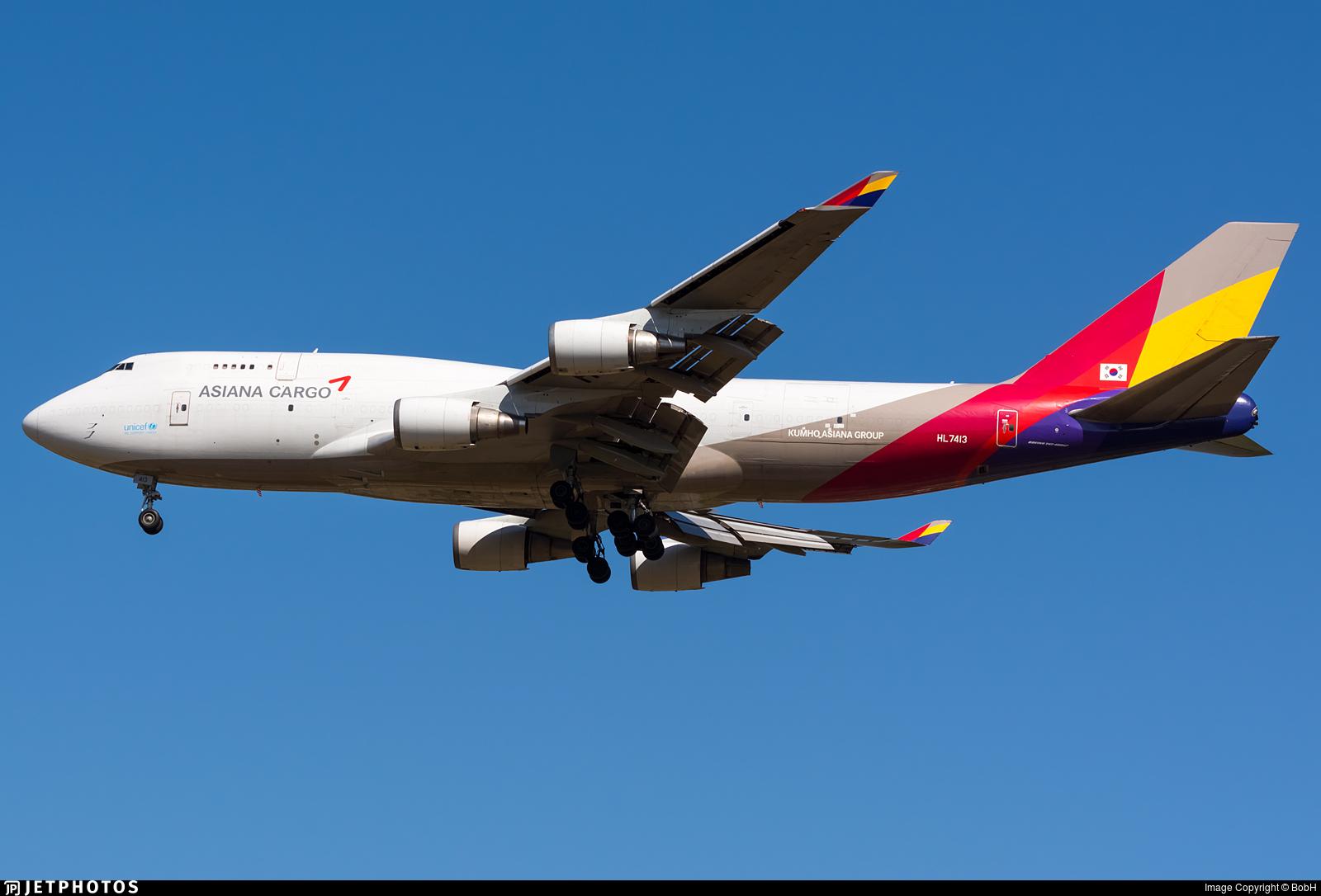 HL7413 | Boeing 747-48E(BDSF) | Asiana Cargo | BobH ...