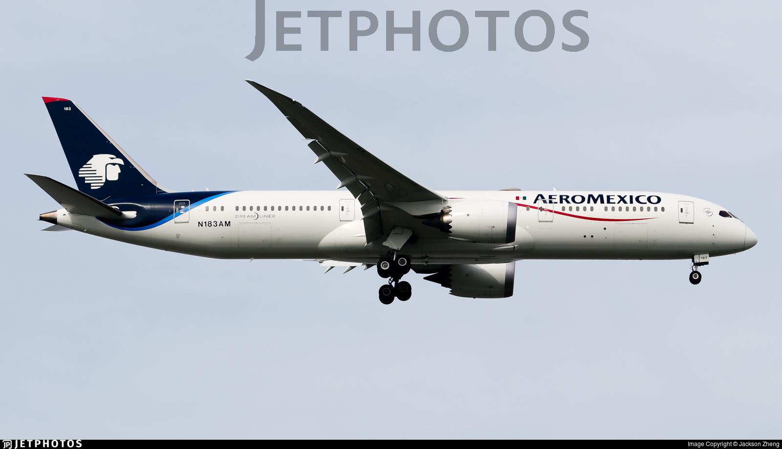 N183AM - Boeing 787-9 Dreamliner - Aeroméxico