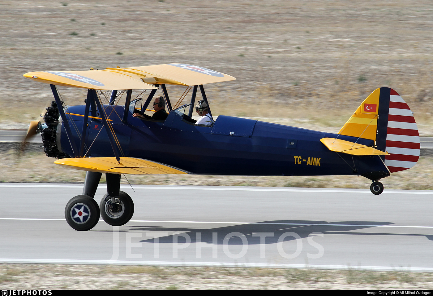 TC-AMK - Boeing E75 Stearman - Private