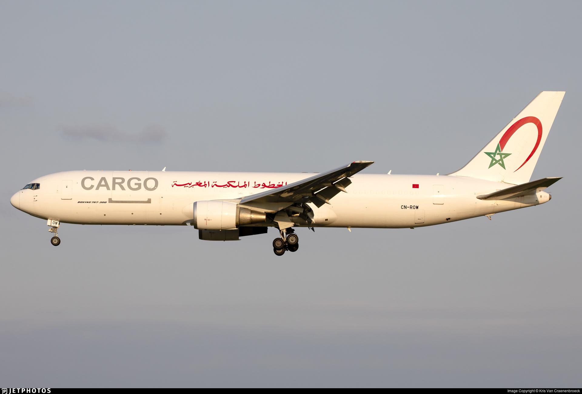 CN-ROW - Boeing 767-343(ER)(BCF) - Royal Air Maroc Cargo