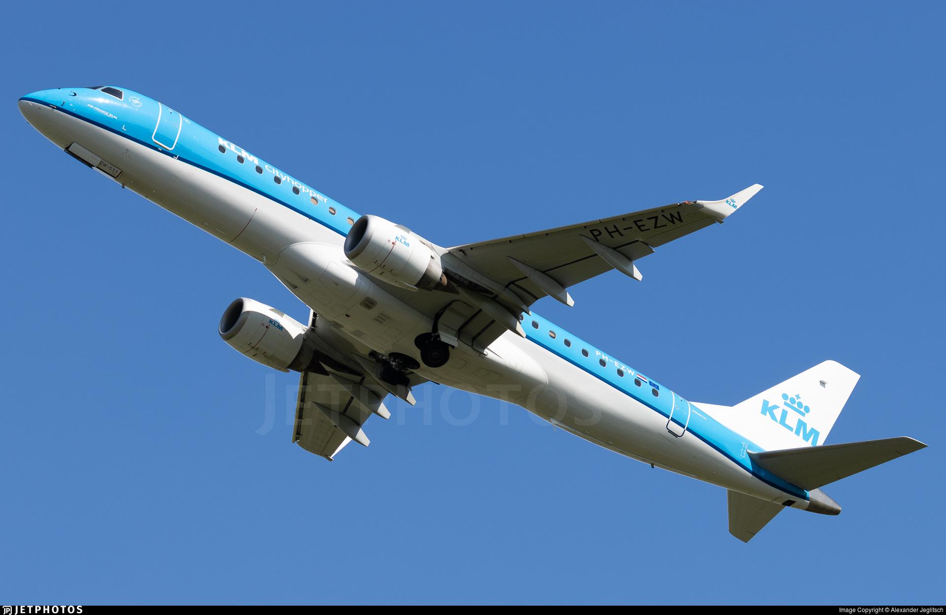 PH-EZW - Embraer 190-100STD - KLM Cityhopper