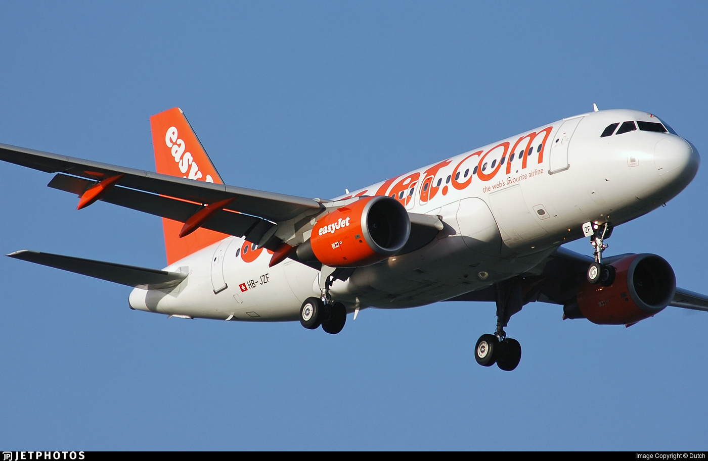 HB-JZF - Airbus A319-111 - easyJet Switzerland