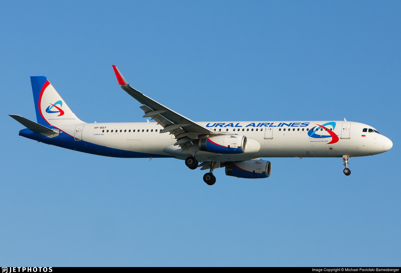 VP-BSY - Airbus A321-231 - Ural Airlines
