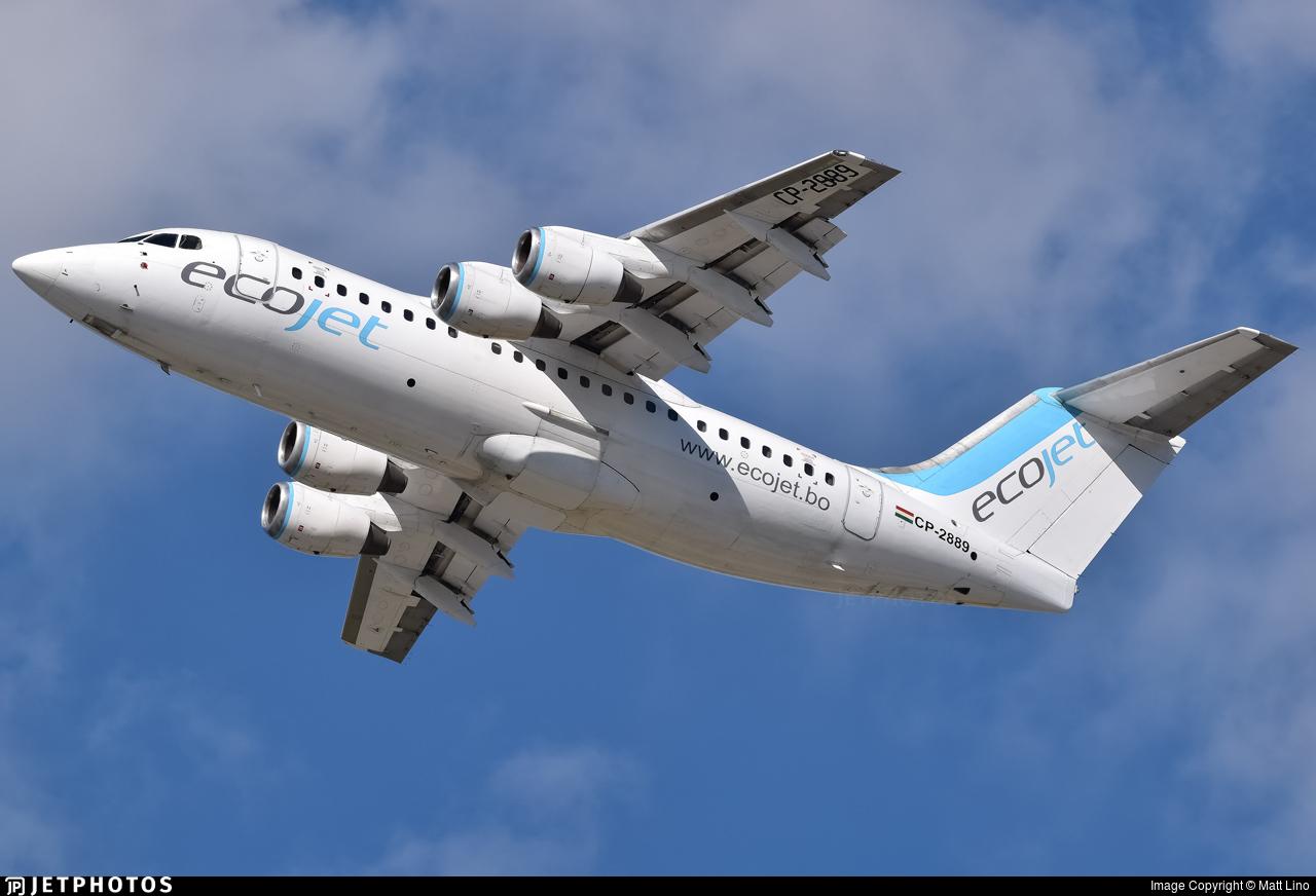CP-2889 - British Aerospace Avro RJ85 - EcoJet