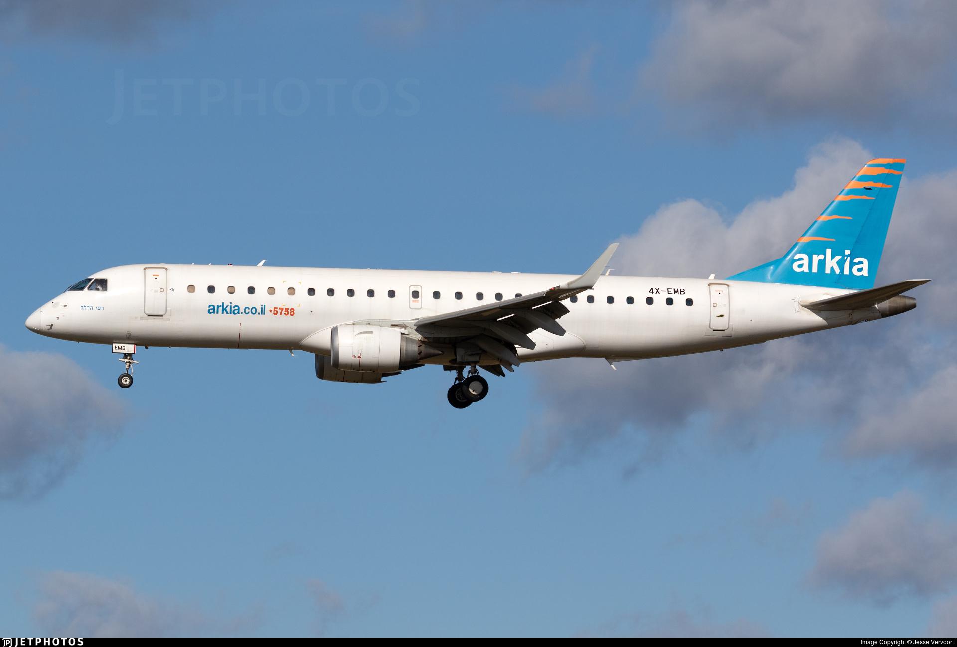 4X-EMB - Embraer 190-100LR - Arkia Israeli Airlines