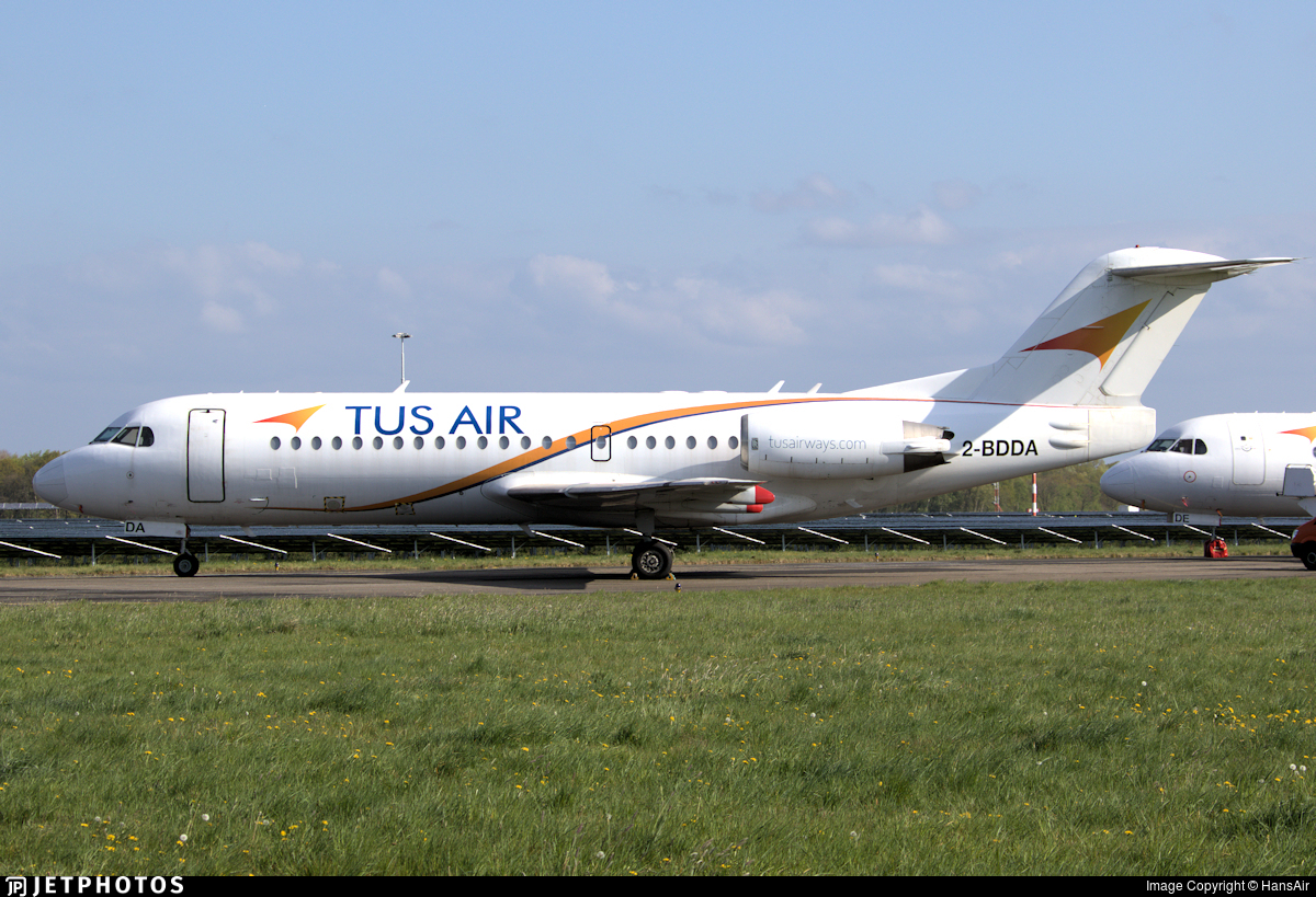 2-BDDA - Fokker 70 - Tus Airways