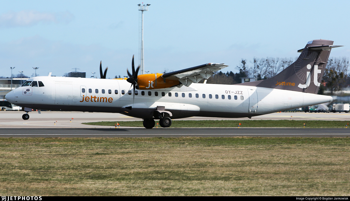 OY-JZZ - ATR 72-212A(500) - Jettime