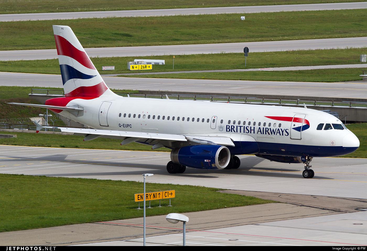 G-EUPC - Airbus A319-131 - British Airways