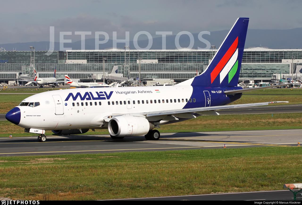 HA-LOF - Boeing 737-6Q8 - Malév Hungarian Airlines