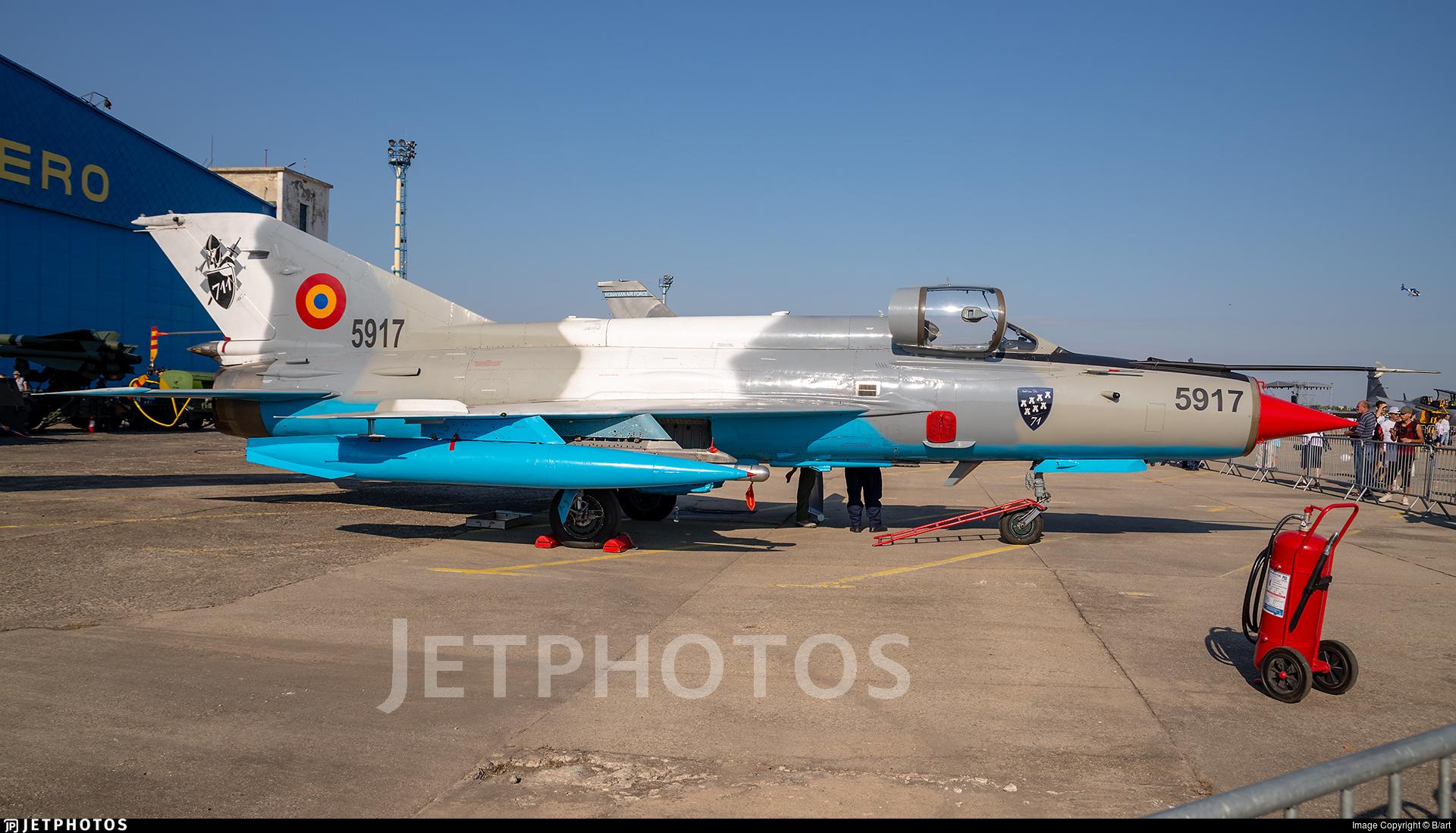 5917 - Mikoyan-Gurevich MiG-21MF Lancer C - Romania - Air Force