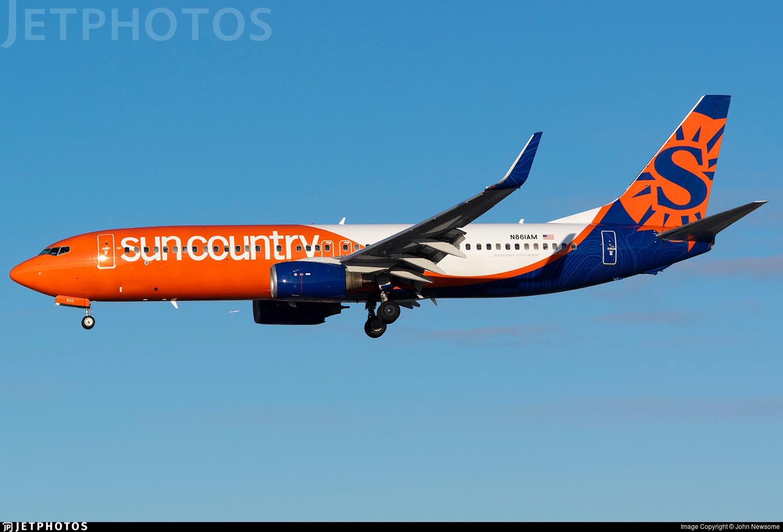 N861AM - Boeing 737-83N - Sun Country Airlines