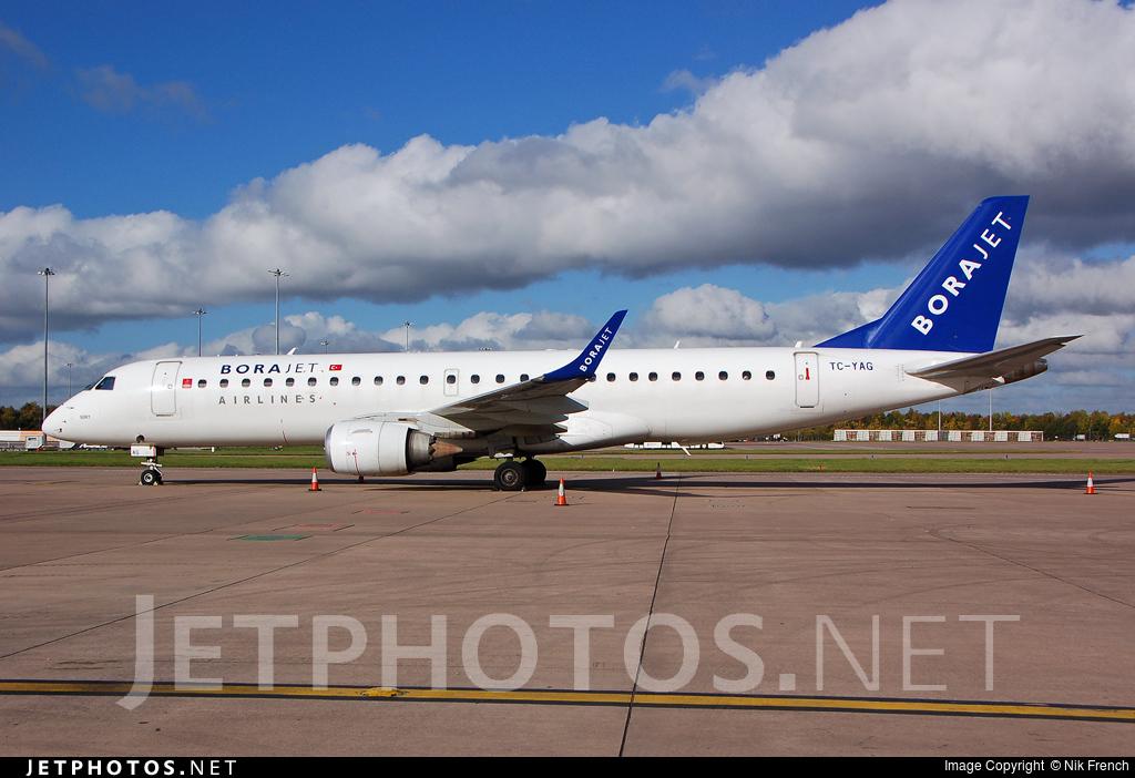 TC-YAG - Embraer 190-100LR - Bora Jet