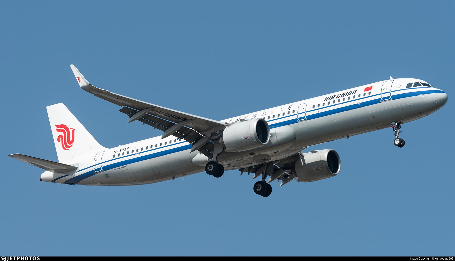 B-30AF - Airbus A321-271N - Air China