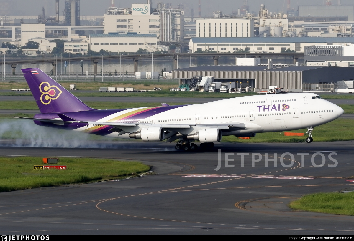 HS-TGX - Boeing 747-4D7 - Thai Airways International