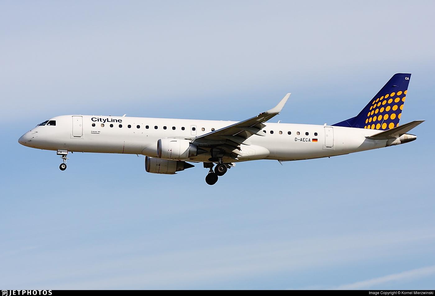D-AECA - Embraer 190-100LR - CityLine