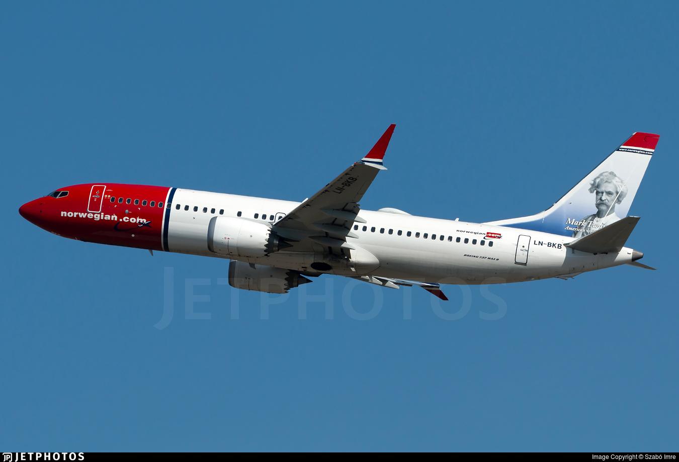 LN-BKB - Boeing 737-8 MAX - Norwegian