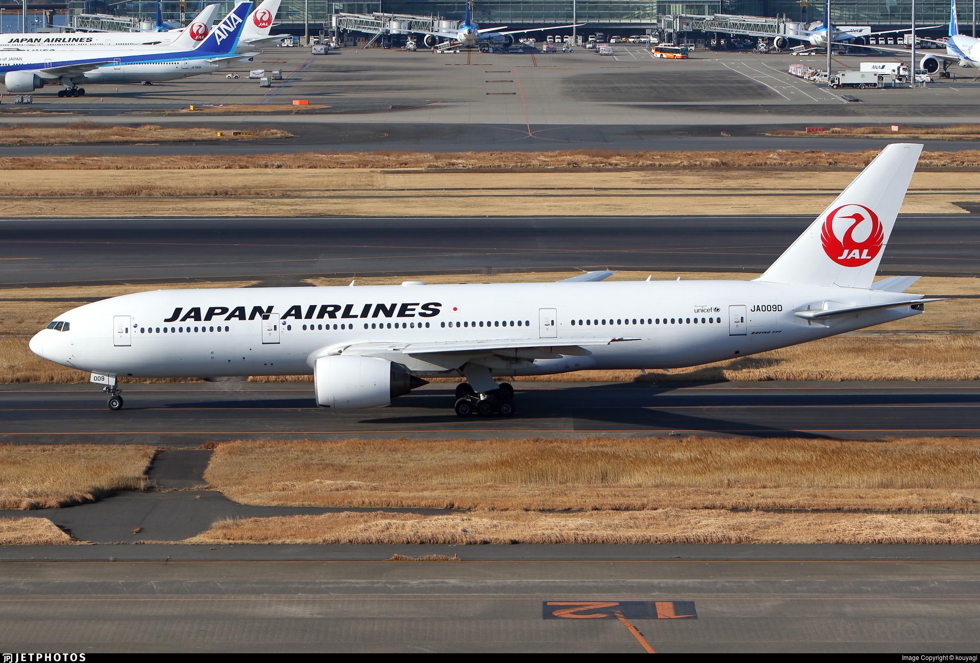 JA009D - Boeing 777-289 - Japan Airlines (JAL)