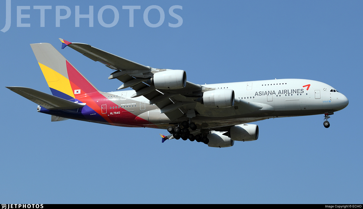 HL7640 - Airbus A380-841 - Asiana Airlines