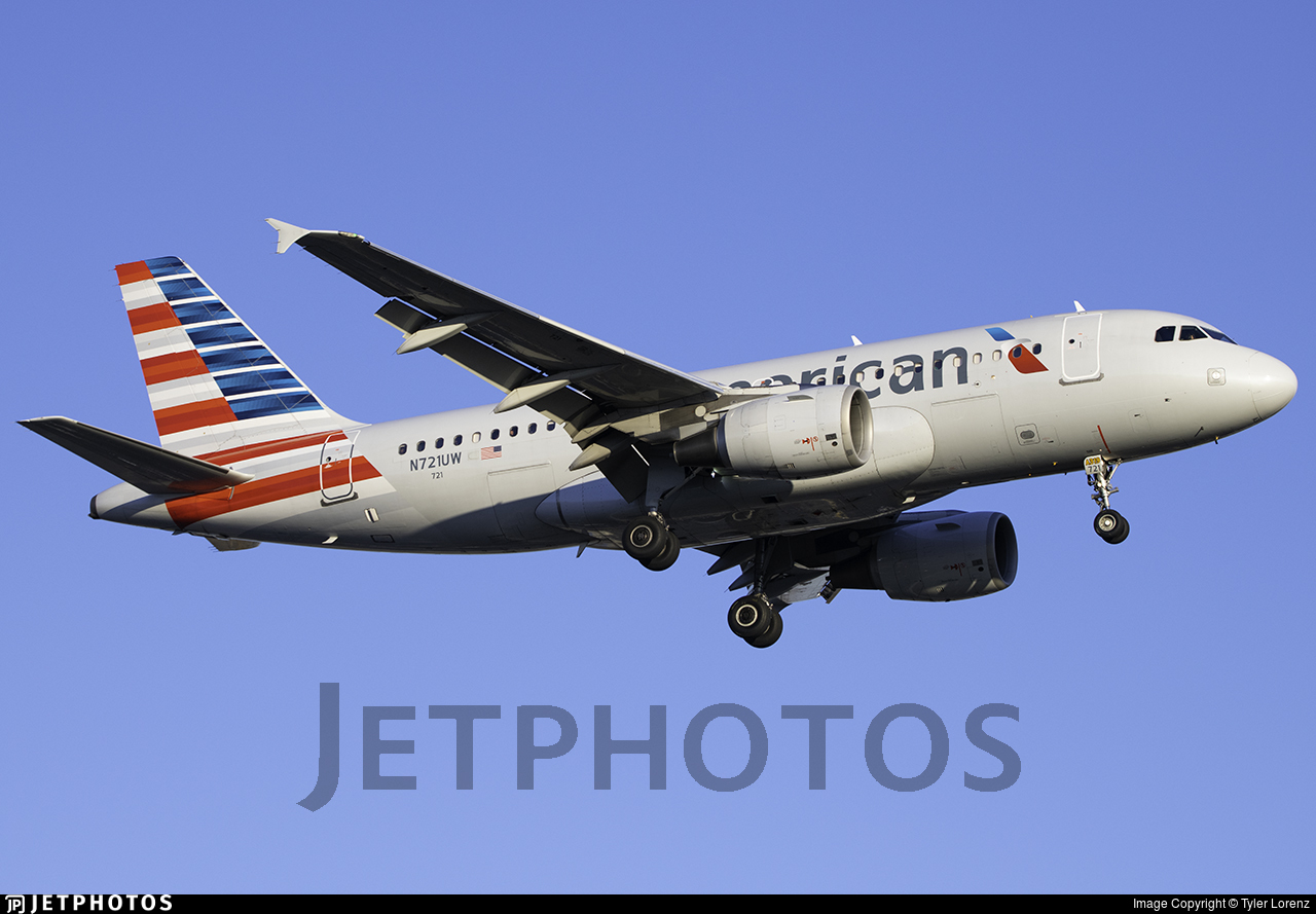 N721UW - Airbus A319-112 - American Airlines