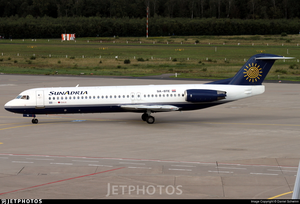 9A-BTE - Fokker 100 - SunAdria