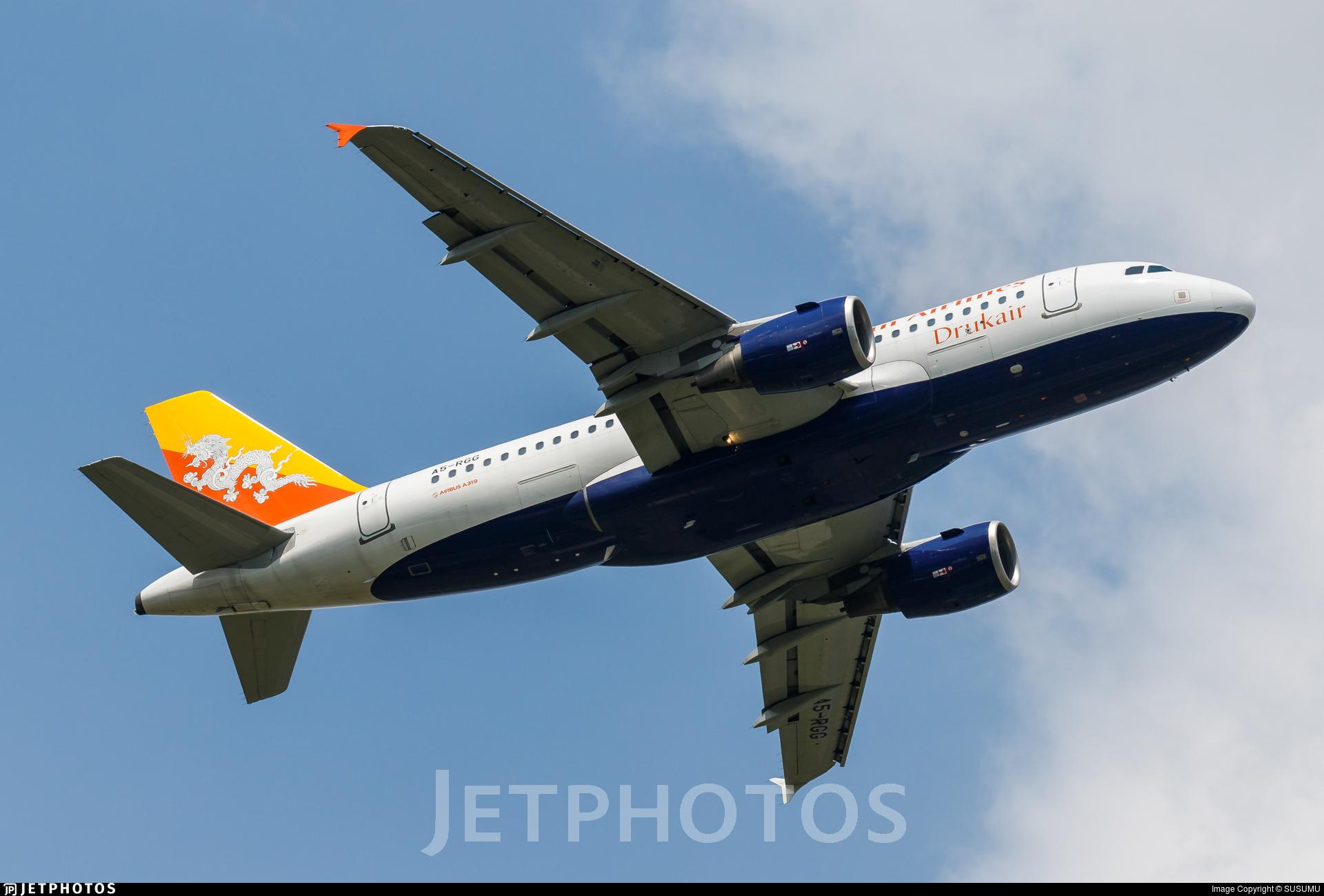 A5 Rgg Airbus A319 115 Druk Air Royal Bhutan Airlines Susumu