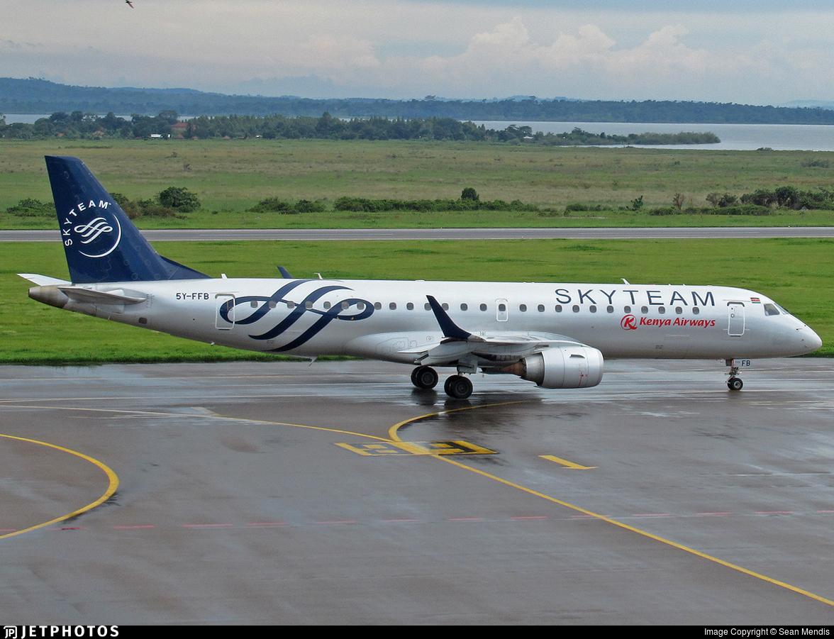 5Y-FFB - Embraer 190-100IGW - Kenya Airways