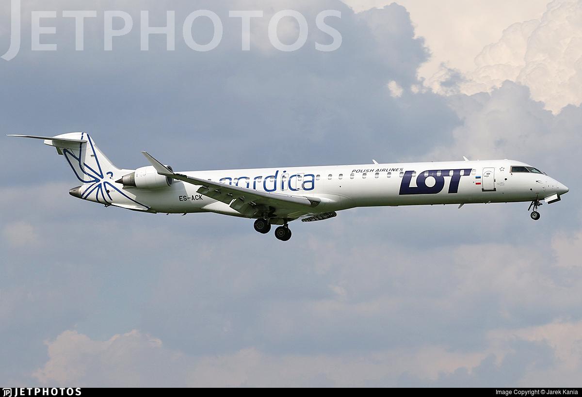 ES-ACK - Bombardier CRJ-900LR - LOT Polish Airlines (Nordica)