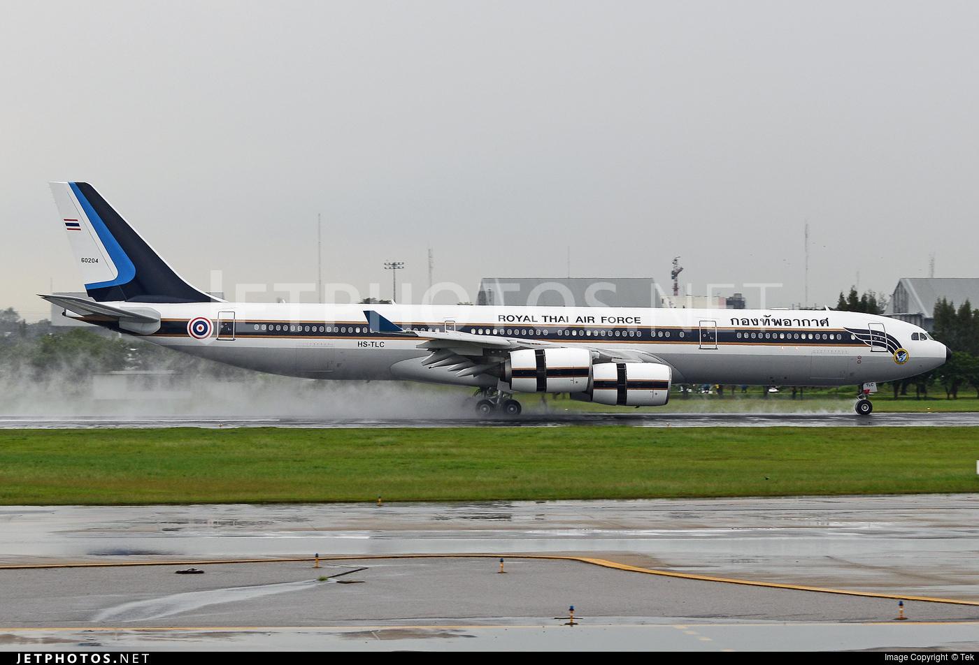 HS-TLC - Airbus A340-541 - Thailand - Royal Thai Air Force