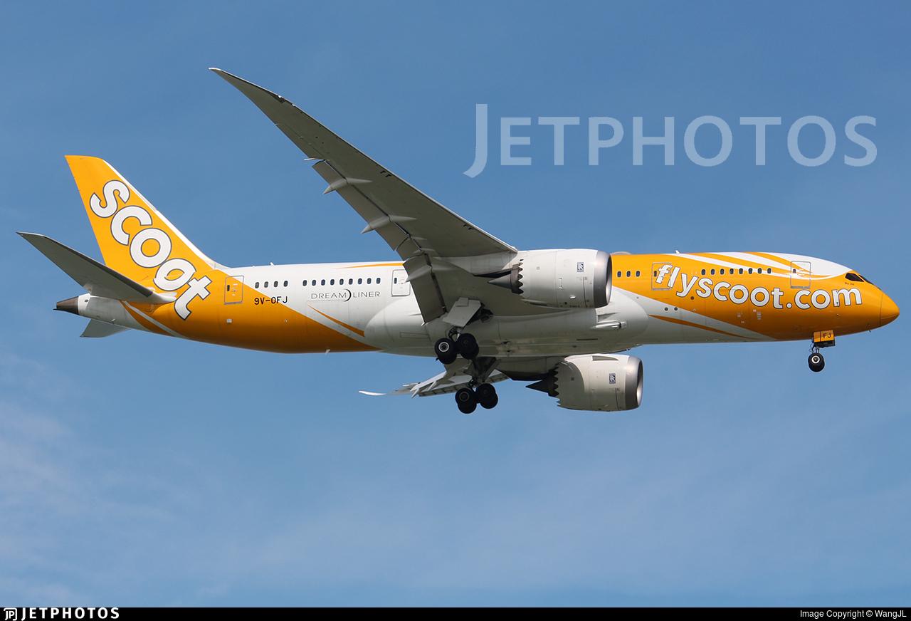9V-OFJ - Boeing 787-8 Dreamliner - Scoot
