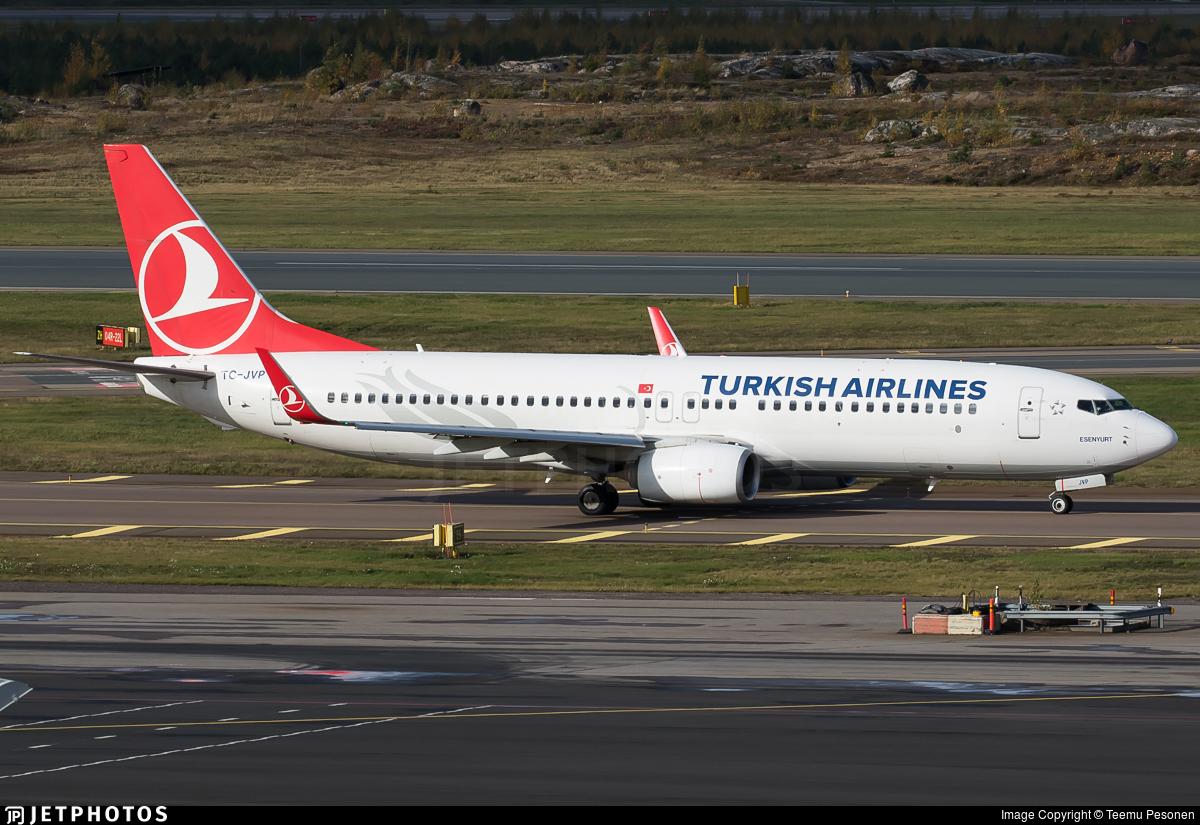 TC-JVP - Boeing 737-8F2 - Turkish Airlines